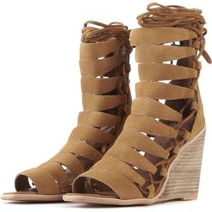 Jeffrey Campbell High gladiator wedge sandals